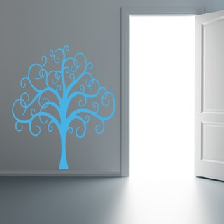 Fairy tree Wall Art Sticker Decal Blue