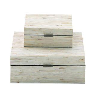 Maison Rouge Lamartine Benzara Enticing Mop Lacquer Boxes (Set of 2)