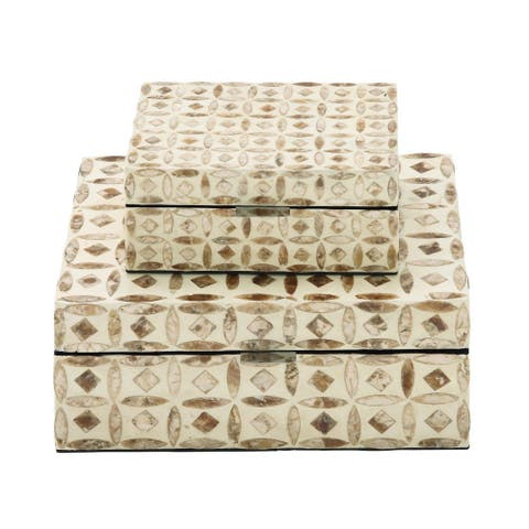 Attractive (Set of 2) Boxes, Mop Lacquer