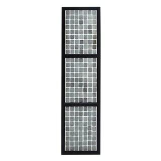 Benzara Amy Princessa White and Black Design Composite Plastic Wall Panel