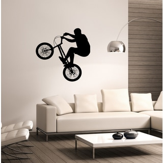 Jumping on a bike Wall Art Sticker Decal