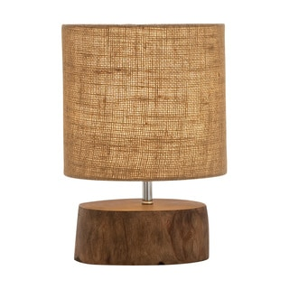 Benzara Mahogany Wood Log Lamp