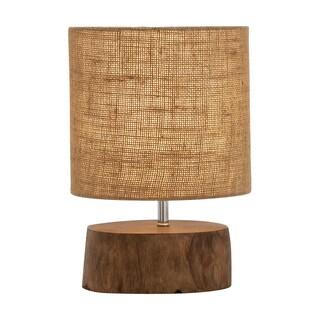 Benzara Mahogany Wood Log Lamp