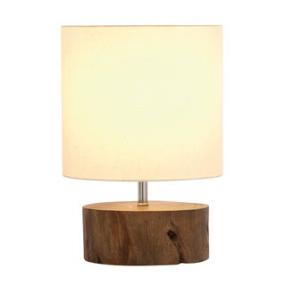 Benzara Beautiful Wood Mahogany Log Lamp