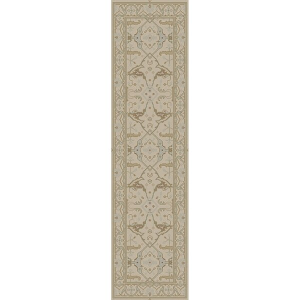 Hand Knotted Flatiron New Zealand Wool Rug (2'6 x 8')