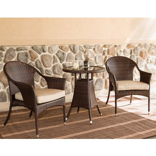 Somette 3-piece Outdoor Woven Bistro Set