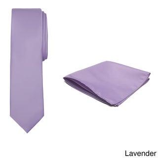 Jacob Alexander Boy's Solid Color Regular Tie and Hanky Set