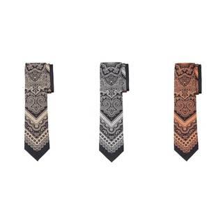 Men's Black Silk Bandana-style Tie