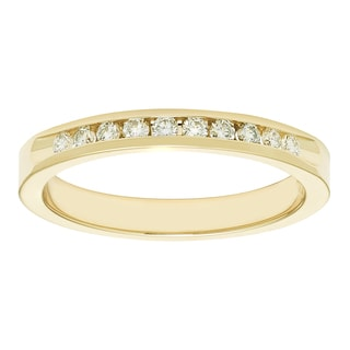 Boston Bay 14k Yellow Gold 1/5ct TDW Diamond Anniversary Band (H-I, I1-I2)