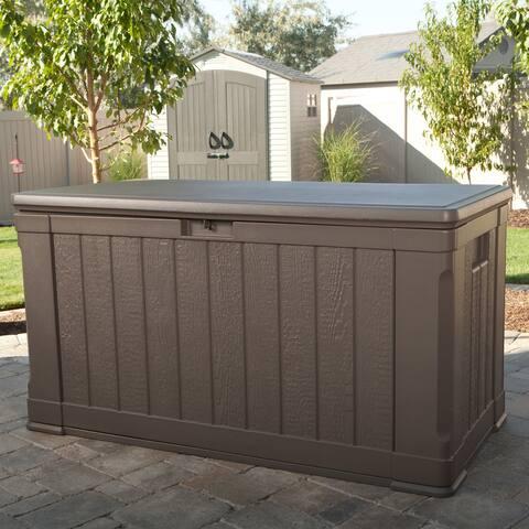 Lifetime Brown Plastic 116-gallon Outdoor Storage Box