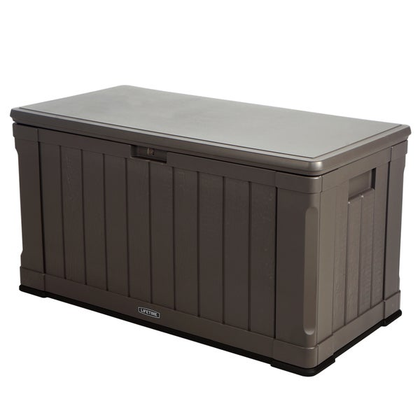 Lifetime Brown Plastic 116 Gallon Outdoor Storage Box