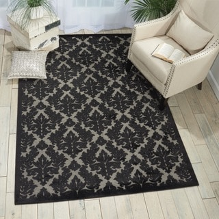 Nourison Ultima Grey/Black Rug (7'6 x 9'6)