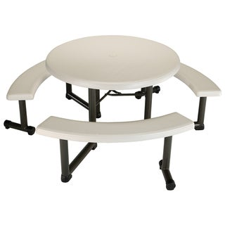 LIfetime Beige 44-inch Round Picnic Table