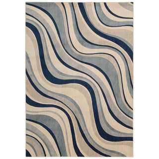 Nourison Somerset Ivory Blue Rug (7'9 x 10'10)