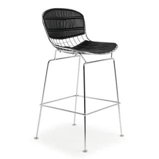 Poly and Bark Morph 25-inch Chrome Counter Stool