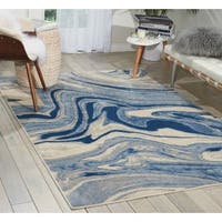 Nourison Somerset Light Blue Rug - 7'9 x 10'10