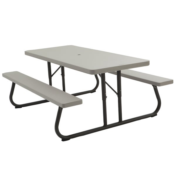 Shop Lifetime Putty Metal And Plastic Foot Picnic Table Free - Ready to assemble picnic table