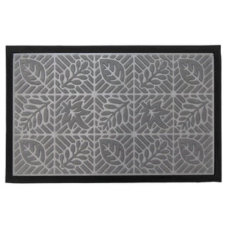 Home Fashion Designs Trenton Leaf Theme Sculpted Indoor/Outdoor Non-Slip Welcome Mat