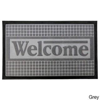 Home Fashion Designs Trenton Indoor/Outdoor Non-Slip Welcome Mat