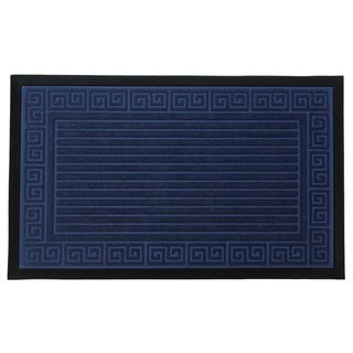 Home Fashion Designs Trenton Polyester/Rubber Greek Scroll Design Sculpted Indoor/Outdoor Non-slip Welcome Mat