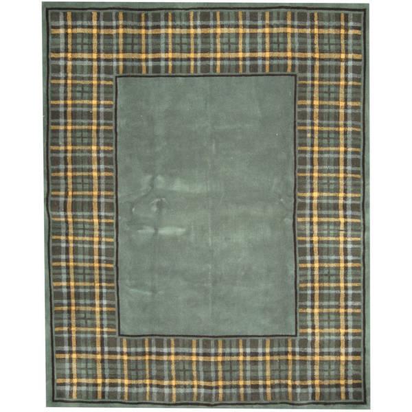 Handmade Herat Oriental Indo Tibetan Wool Rug - 7'6 x 9'6 (India)