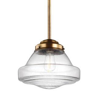 Feiss 1-light Aged Brass Pendant