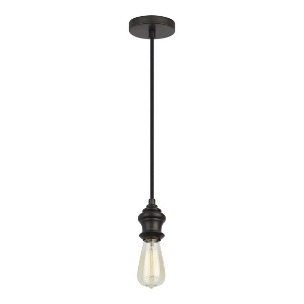 Feiss Mini 1-light Aged Pewter Pendant