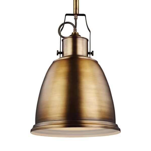 Feiss 1-light Aged Brass Pendant