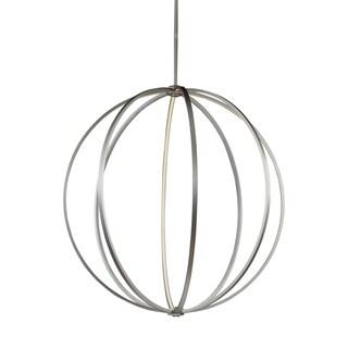 Feiss Globe 48-inch LED Globe Pendant Satin Nickel Pendant - Satin Nickel