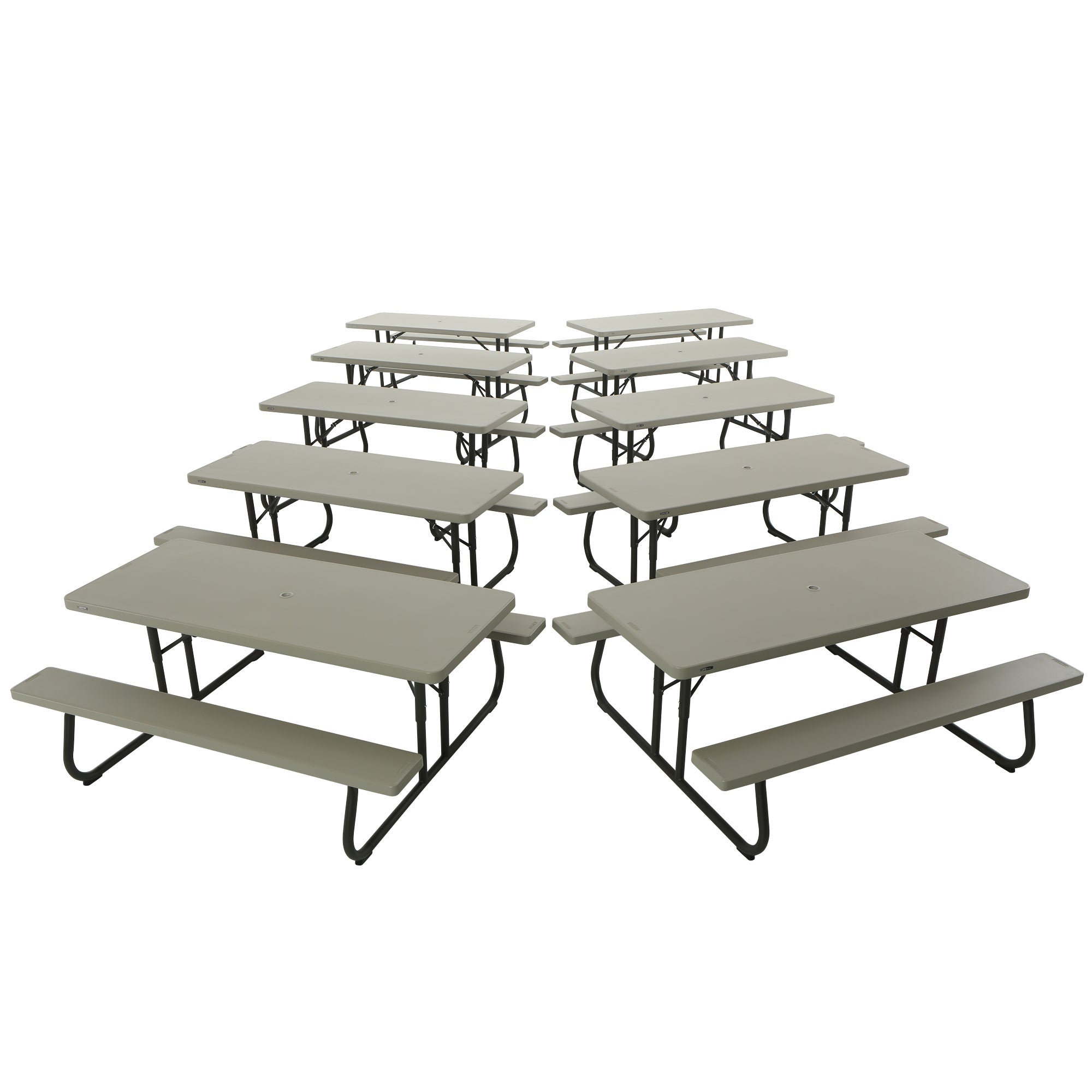 Lifetime 6 Foot Putty Picnic Table (Pack Of 10) (Lifetime.