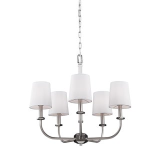 Feiss 5-light Satin Nickel / Polished Nickel Chandelier