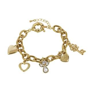 Goldtone Love Charm Bracelet
