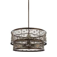 Feiss 6-light Chestnut Bronze Chandelier