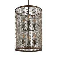 Feiss Foyer 6-light Chestnut Bronze Chandelier