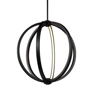 Feiss Globe 20-inch LED Globe Pendant Oil Rubbed Bronze Pendant