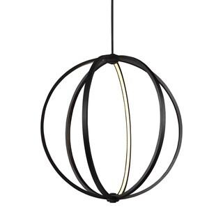 Feiss Globe 30-inch LED Globe Pendant Oil Rubbed Bronze Pendant