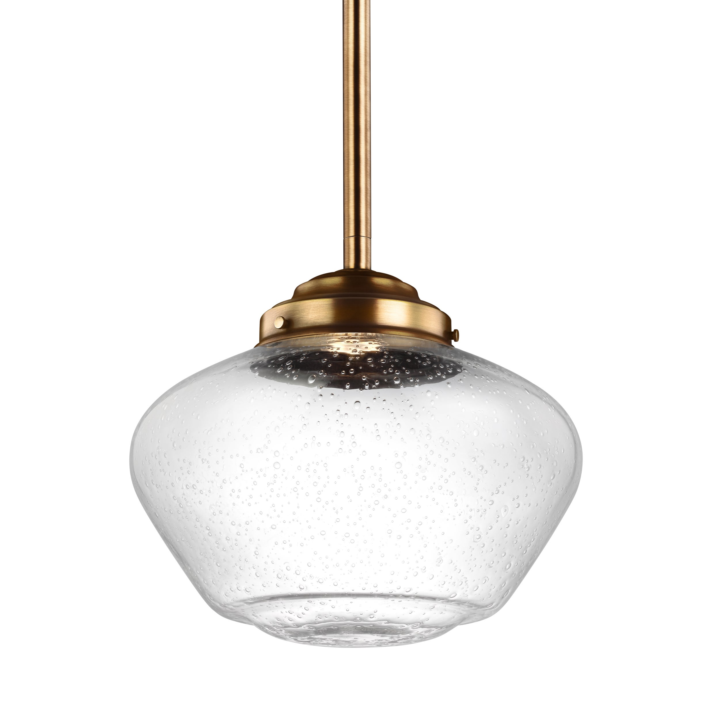 Feiss LED Pendant Aged Brass Pendant