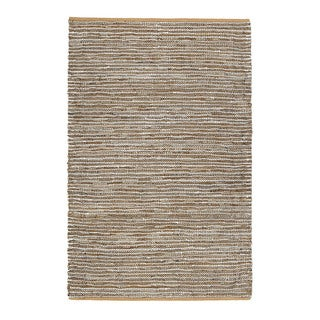 Jani Nia Leather Cotton and Jute Rug (5' x 7')