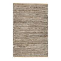 Jani Nia Leather Cotton and Jute Rug (5' x 7')