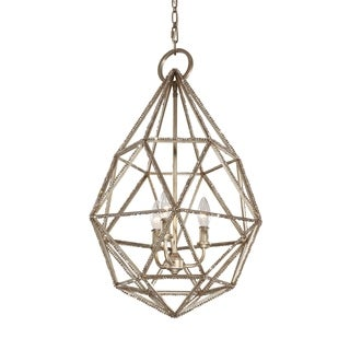 Feiss Marquise 3-light Burnished Silver Pendant