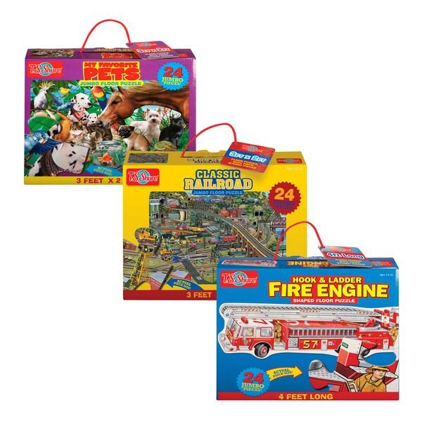 TS Shure Jumbo Puzzle, My Favorite Pets, Fire Engine, Railroad