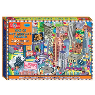 TS Shure 200 Piece Map of New York City Jigsaw Puzzle