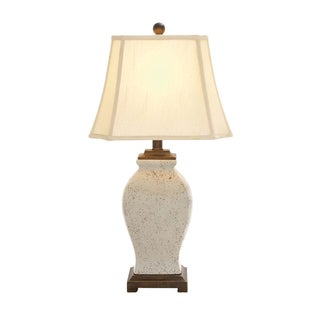 The Lovely Ceramic Off-white Table Lamp