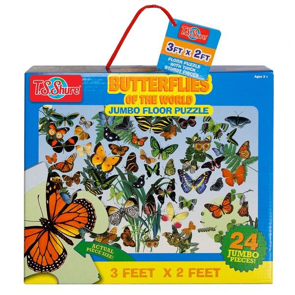 TS Shure Butterflies of the World Jumbo Floor Puzzle