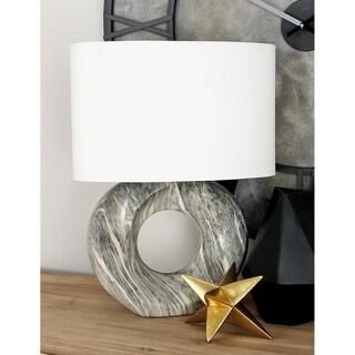 Studio 350 Set of 2, Ceramic Light Grey Lamp 21 inches high
