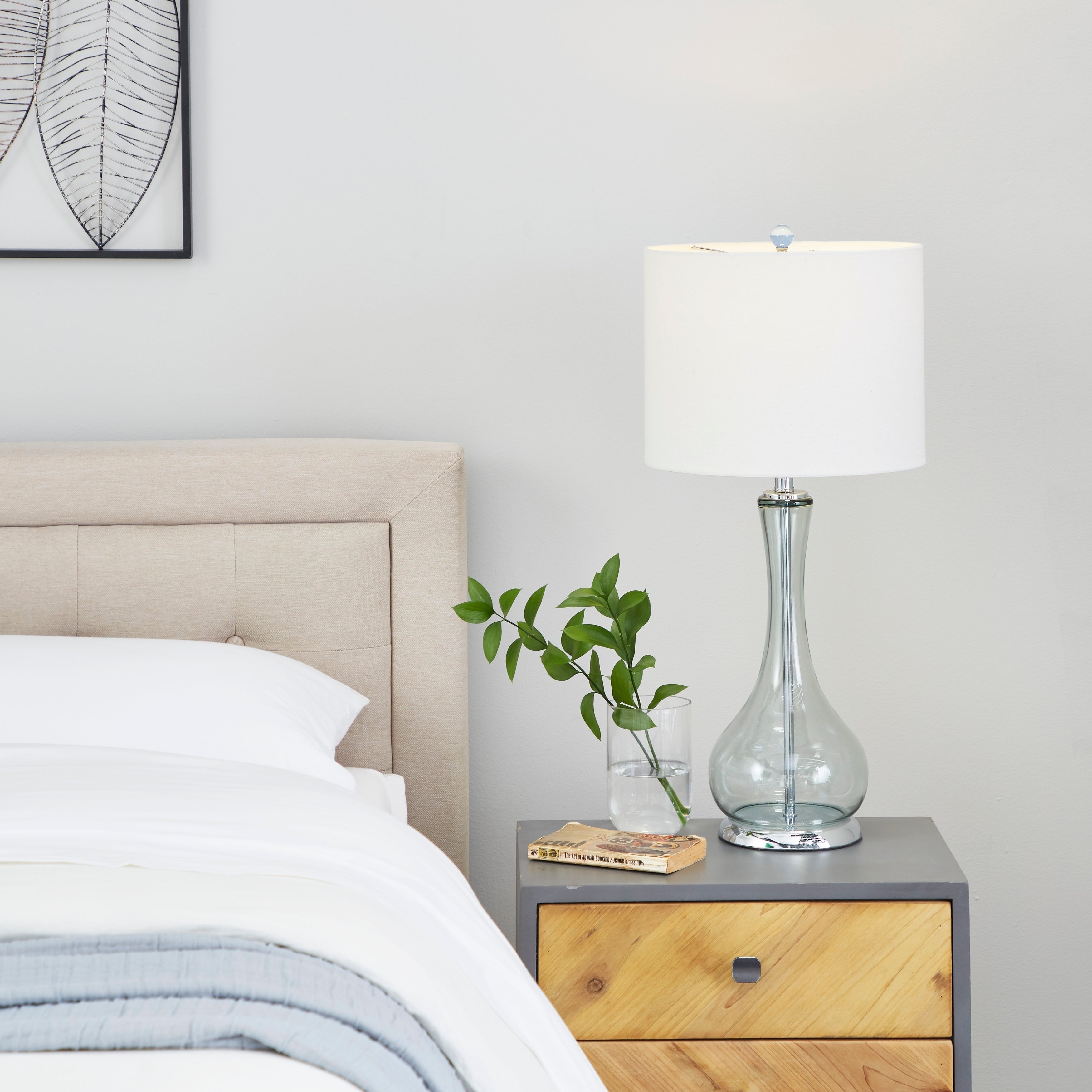 Benzara Glass Table Lamp A Living Style Statement (Table ...