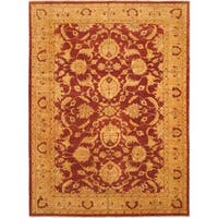 eCarpetGallery Chobi Hand-knotted Beige/Red Wool Rug (13'3 x 17'10)