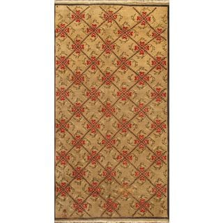 eCarpetGallery Keisari Hand-knotted Black/Red/Yellow Wool Rug (4'11 x 10'0)