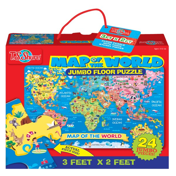 TS Shure World Map Jumbo Floor Puzzle