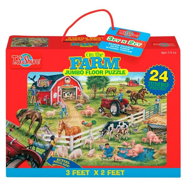 TS Shure On the Farm Jumbo Floor Puzzle